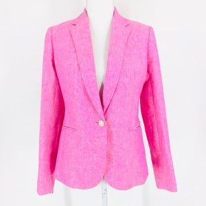J. Crew Campbell 100% Linen Blazer in Azalea Pink